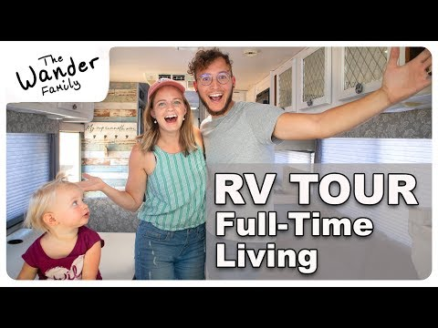 RV TOUR! Full-Time VAN LIFE Living with Kids  The Wander Family  The Wander Family