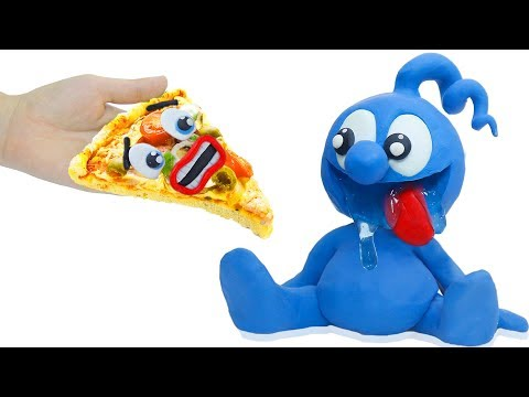 TINY EATING TOO MUCH PIZZA || Everything Is Better With Play Doh