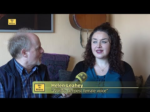 Helen Leahey.  World's Deepest Female Voice