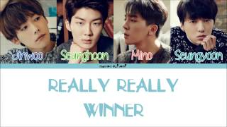 Video WINNER - REALLY REALLY Color Coded Lyrics [Han/Rom/Eng] MP3, 3GP, MP4, WEBM, AVI, FLV Juli 2018
