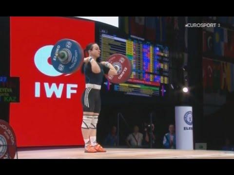 Чемпионат мира 2015. Женщины в.к. до 53 кг. толчок