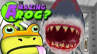 Amazing Frog Coop Gameplay German - Ein Hai im Pool