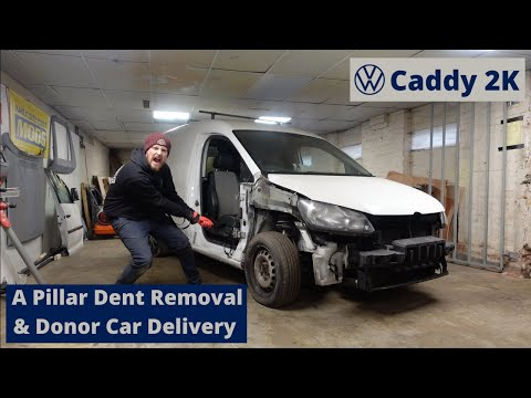 VW Caddy 2K Build Series - A Pillar Dent Removal & Donor Car Delivery - Episode 2