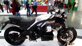 9. 2014 Moto Guzzi Griso 1200 8V SE Walkaround - 2013 EICMA Milan Motorcycle Exhibition