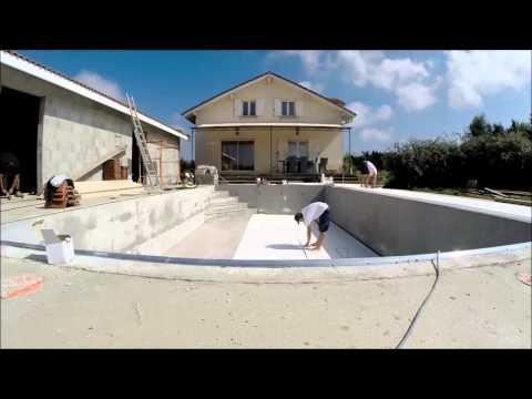 comment poser pvc armé pour piscine