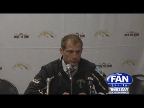 WMU Head Coach PJ Fleck addresses the media after Bronco football falls to Kent State