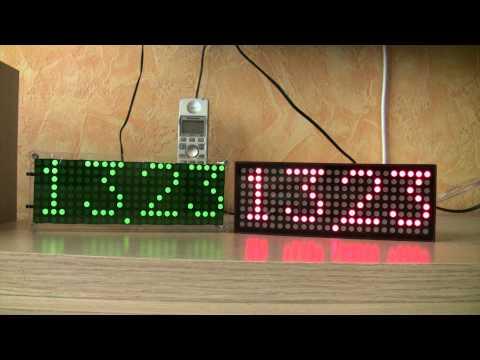 2x  LED matrix digital clock 8x24