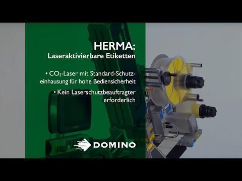 Domino und HERMA: Kennzeichnung laseraktivierbarer Etiketten