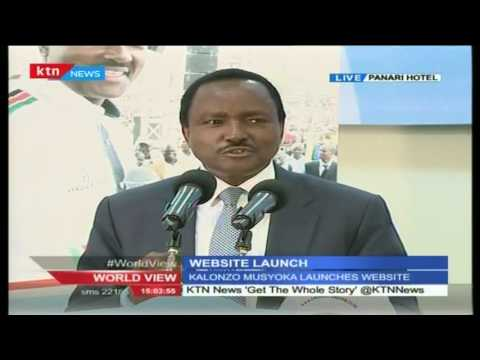 Hon Kalonzo Musyoka launches his website ahead of 2017