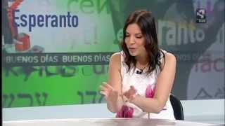 Entrevista a Beatriz Pitarch con motivo del 72 congreso español de esperanto en Zaragoza. Programa Buenos días Aragón,de Aragón Television.