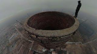 Wszedł na 120 metrowy Ślonski Komin bez zabezpieczenia i nagrał filmik