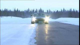 Driving New Mercedes SLS AMG Gullwing 2011 Sweden Arjeplog