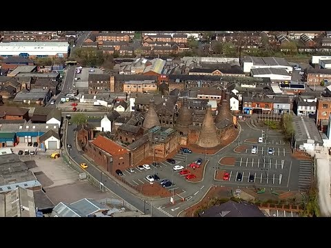 Aerial Drone Footage, Longton, Stoke on Trent, Staffordshire, UK. 14th April 2018