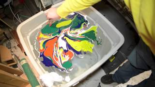 How To Swirl A Strat Guitar Body With Magic Marble Paints Dipping Swirling