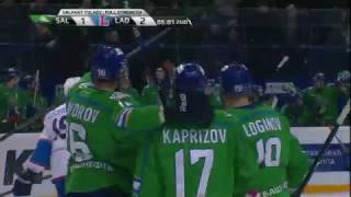 Korotokov dishes a behind the net assist
