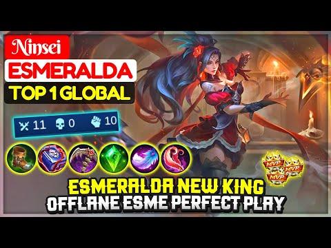 Esmeralda New King, Offlane Esme Perfect Gameplay [ Top 1 Global Esmeralda ] Ninsei - Mobile Legends