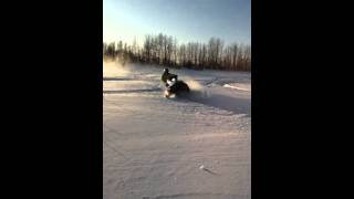4. 2008 Polaris RMK 600 Riding