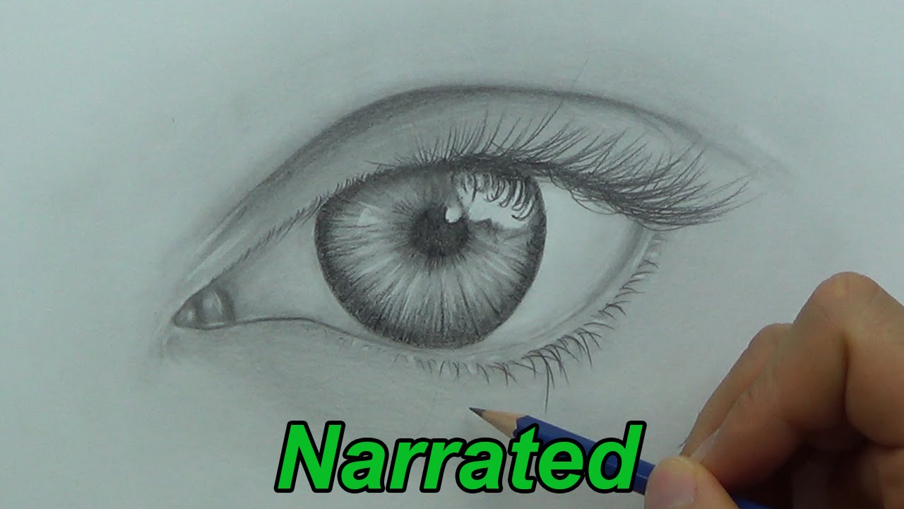 How To Draw A Realistic Eye Drawing Eyes (narrated) #howtodraw #learntodraw  How