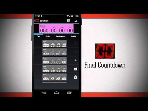 Video of Final Countdown - Day Timer