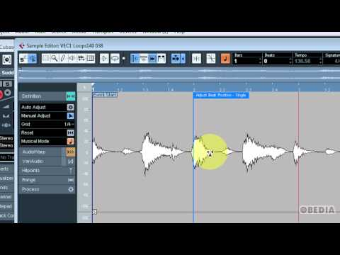 CUBASE: using Audiowarp
