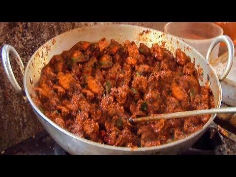 CHICKEN FRY CURRY - HYDERABAD STREET FOOD - STREET FOOD AROUND THE WORLD street food