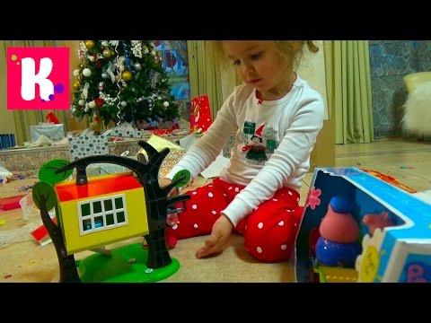 Подарки Кате от Деда Мороза открываем игрушки под Новогодней ёлкой Unboxing Christmas gifts
