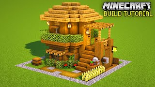 Minecraft: How to build a SMALL SURVIVAL HOUSE!                 (EASY HOUSE TUTORIAL)