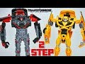 Transformers The Last Knight 2 Step Flip Changers Hot Rod And Bumblebee Change 360 Degrees