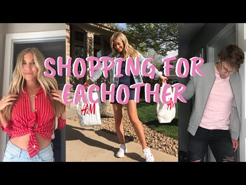 WE BUY EACH OTHER AN OUTFIT CHALLENGE @ HM | Maddie Woods & Ryan Moeller