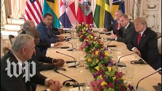 Trump participates in working visit with Caribbean leaders