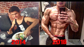 17 Years Old 2 Years Body Transformation - Skinny to Fit - Muscular Aesthetic | Before After