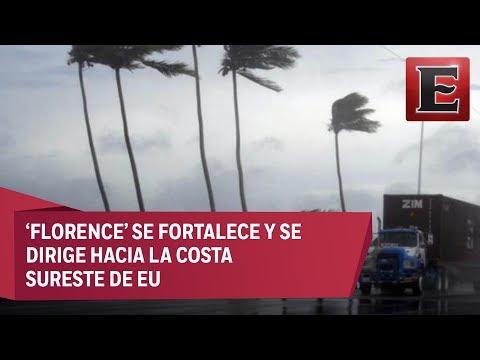 """Alerta en EU por la proximidad del huracán """"Florence"""" en el Atlánntico"""