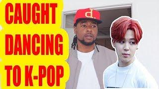 BLACK GUY Caught Dancing to K Pop | BTS -  Fire