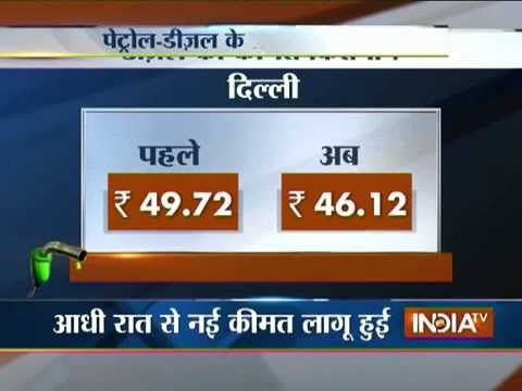 Petrol & Diesel Prices Reduced in India