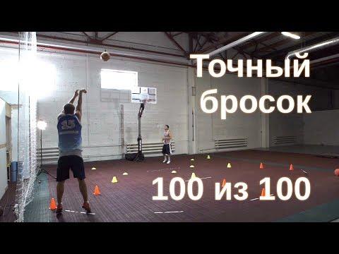 Как бросать мяч в баскетболе Тренировка броска из под кольца штрафного трехочкового. Год спорта4 - DomaVideo.Ru