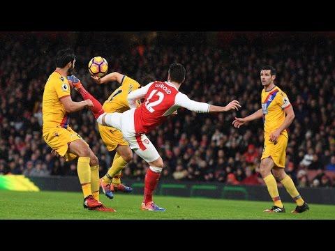 Olivier Giroud scorpion kick goal Arsenal vs Crystal Palace 16/17,amazing HD