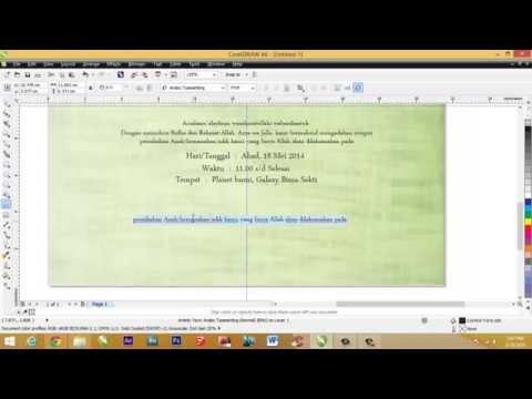 ... Cara membuat undangan pernikahan dengan CorelDRAW x6 Versi 2