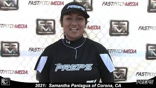 2021 Samantha Paniagua Catcher and Third Base Softball Skills Video - Easton Preps