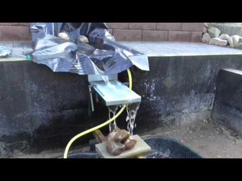 Wasserlauf selber bauen – Wasserfall #5 selber machen das macht Spaß und spart Geld