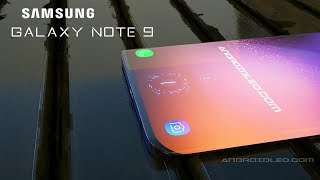 Samsung Galaxy Note 9 with In-Display Fingerprint Scanner, iPhone X killer, concept (2018)