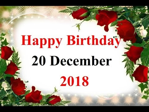 Happy birthday messages - Special 20 december happy birthday status birthday wishes birthday whatsapp status जन्मदिन
