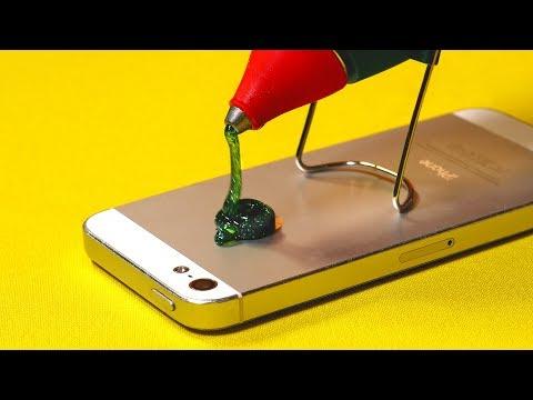 4 Crazy Life Hacks With Hot Glue Gun (видео)