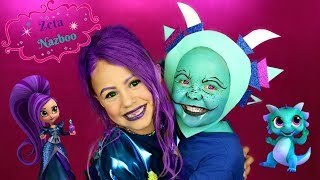 Shimmer and Shine Zeta and Nazboo Makeup and Costumes