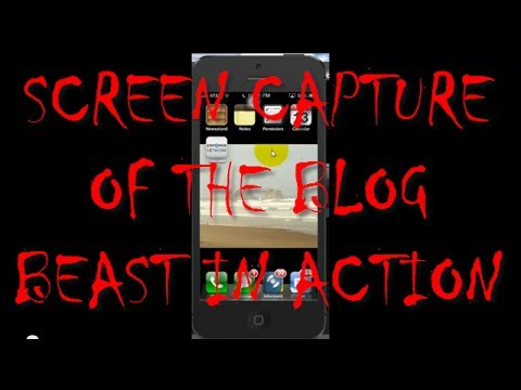The Blog Beast Demo – iPhone Screen Capture – WordPress Killer?