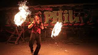 Feuerkünstler Solo- Feuershow