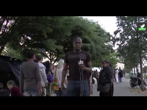 Les migrants de la rue d'Aubervilliers à Paris Stalingrad