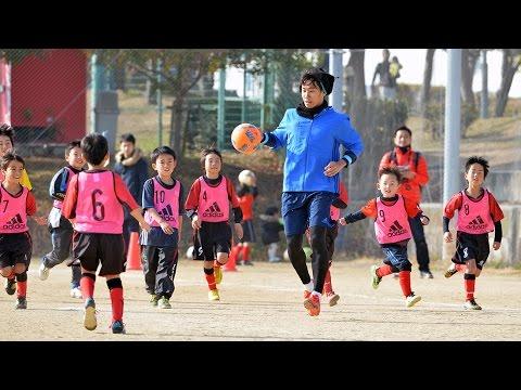 サッカー香川真司選手 故郷の垂水で初蹴り