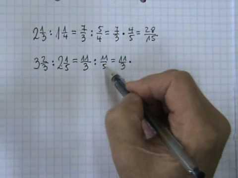 Vídeos Educativos.,Vídeos:División de números mixtos 1