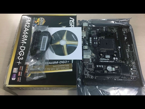 Asrock FM2A68M-DG3+ Unboxing - The cheapest FM2 motherboard you can get!