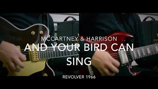 Download Lagu And Your Bird Can Sing  - McCartney & Harrison duo (Guitar Lesson) Mp3